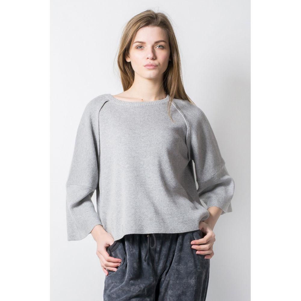 Серый пуловер Tensione in с широкими рукавами