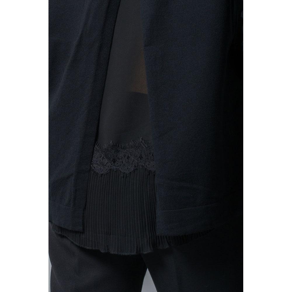 Черный пуловер Rosa Shock с кружевом на спинке