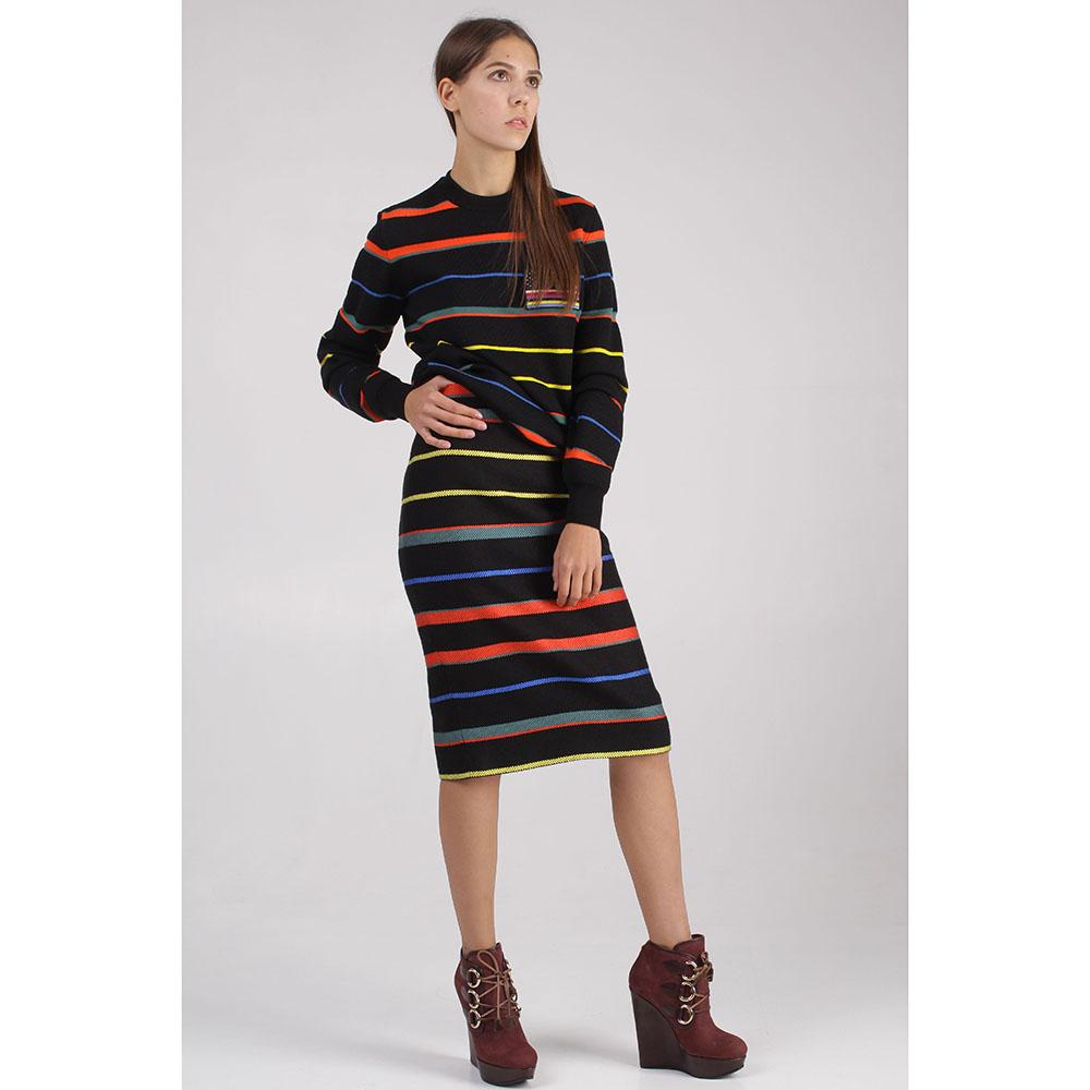 Юбка до колен Givenchy в разноцветную полоску