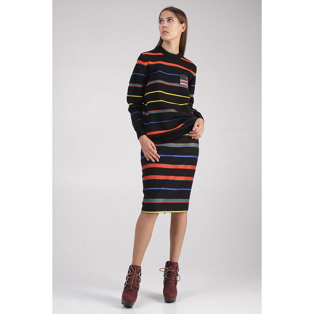 Свитер Givenchy черный с цветными полосами