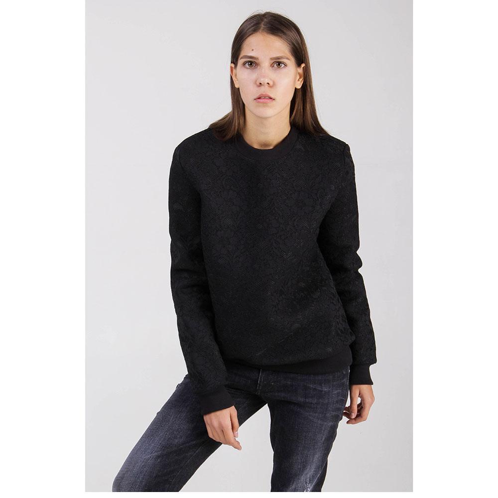 Черный свитшот Givenchy с кружевной фактурой