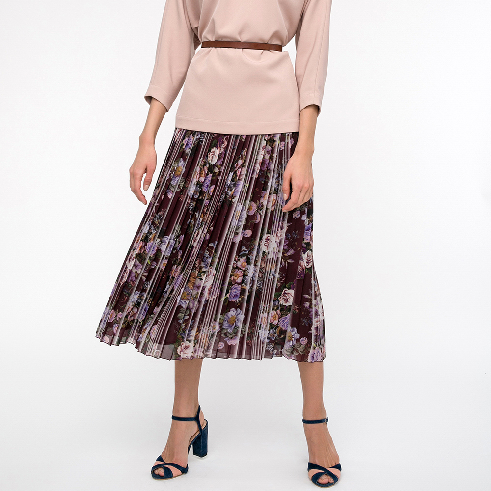 Плиссированная юбка Shako с цветочным принтом