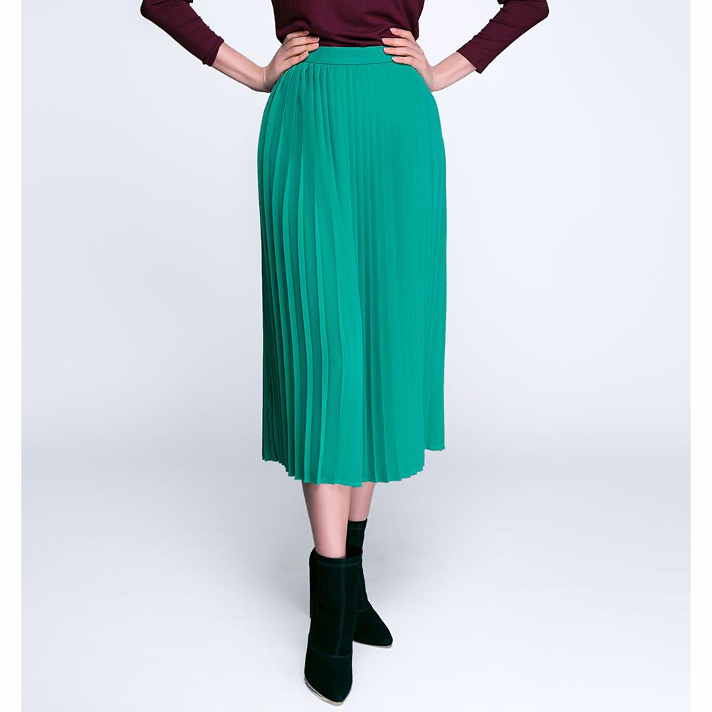 Плиссированная юбка Shako зеленого цвета