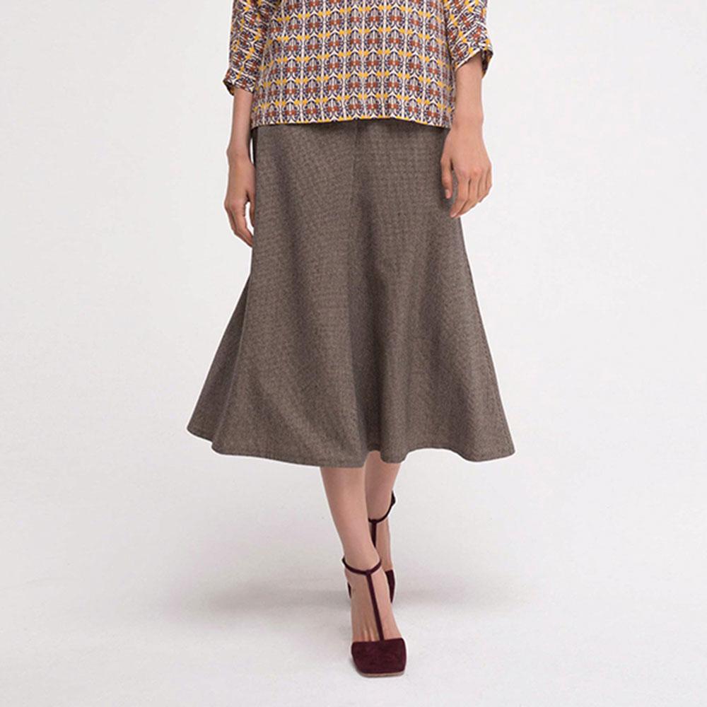 Шерстяная юбка Shako с высокой посадкой