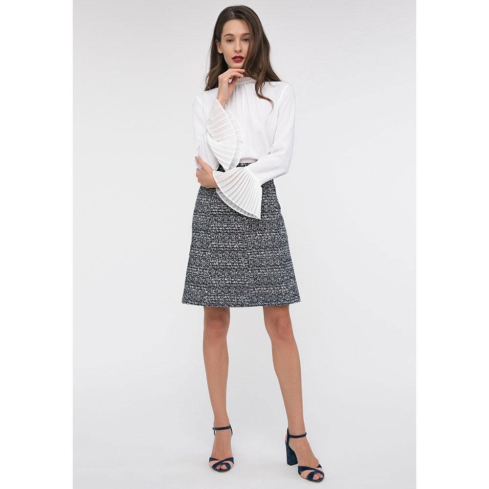Твидовая юбка-трапеция Shako с высокой талией