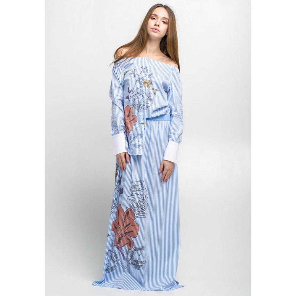 Длинная полосатая юбка Emma&Gaia с цветочным принтом