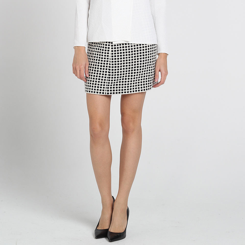 Короткая юбка Kristina Mamedova в черно-белую клетку