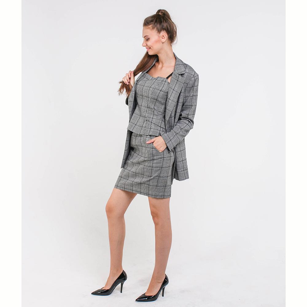Клетчатая юбка Marciano черно-белого цвета