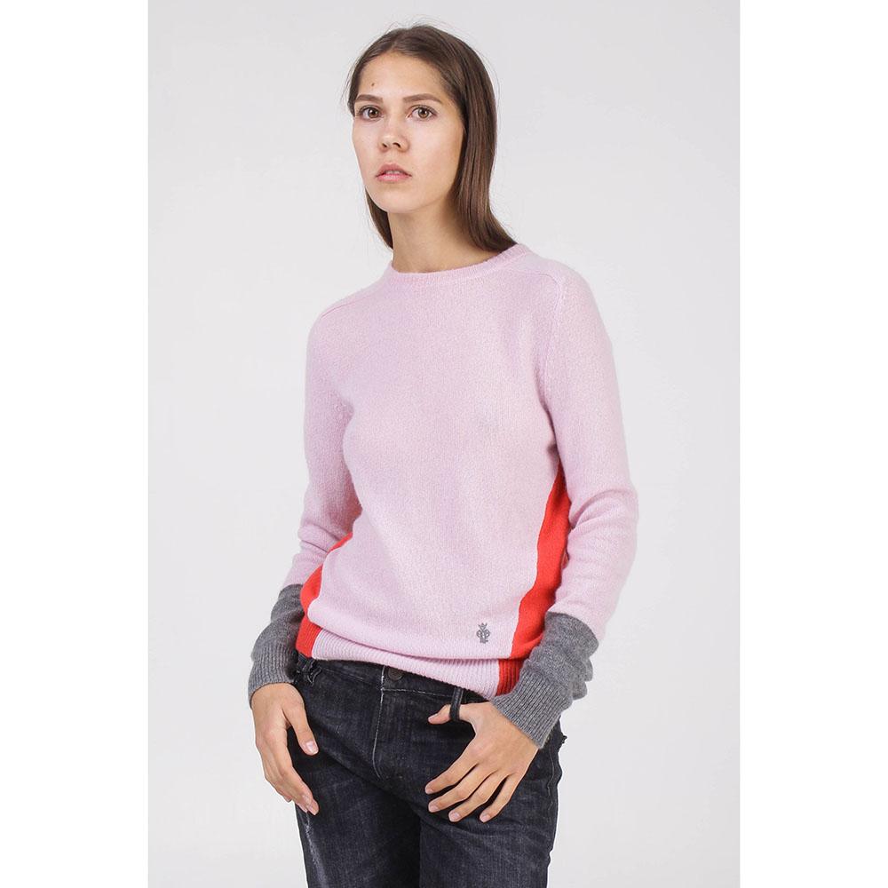 Джемпер Emilio Pucci розового цвета с красной спинкой