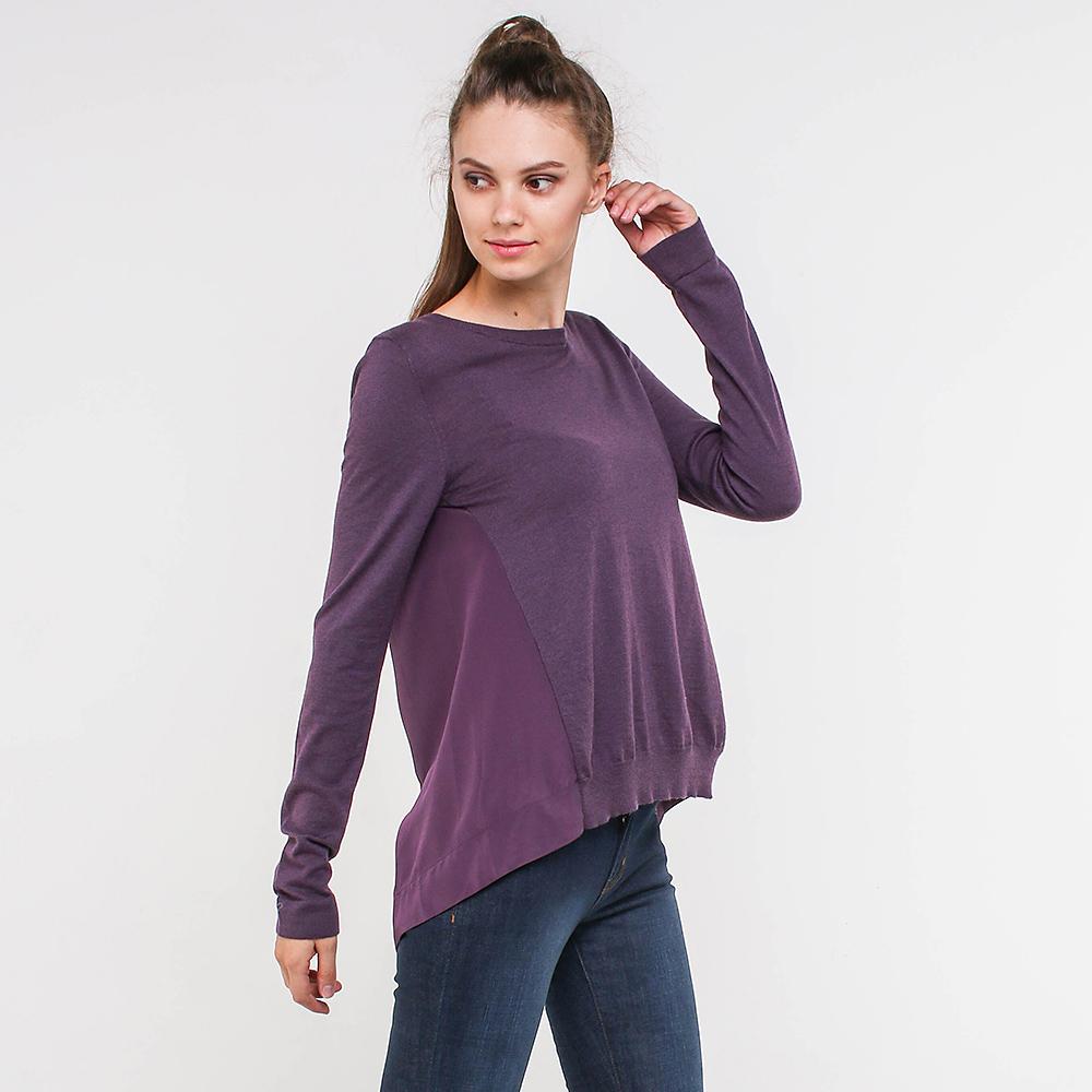 Фиолетовый джемпер Trussardi Jeans с удлиненной спинкой
