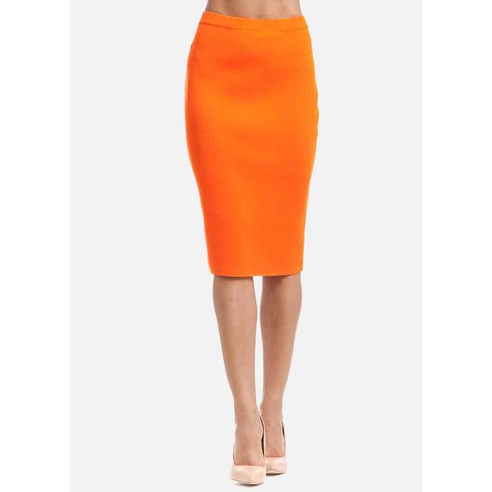 Трикотажная юбка-карандаш RITO оранжевого цвета