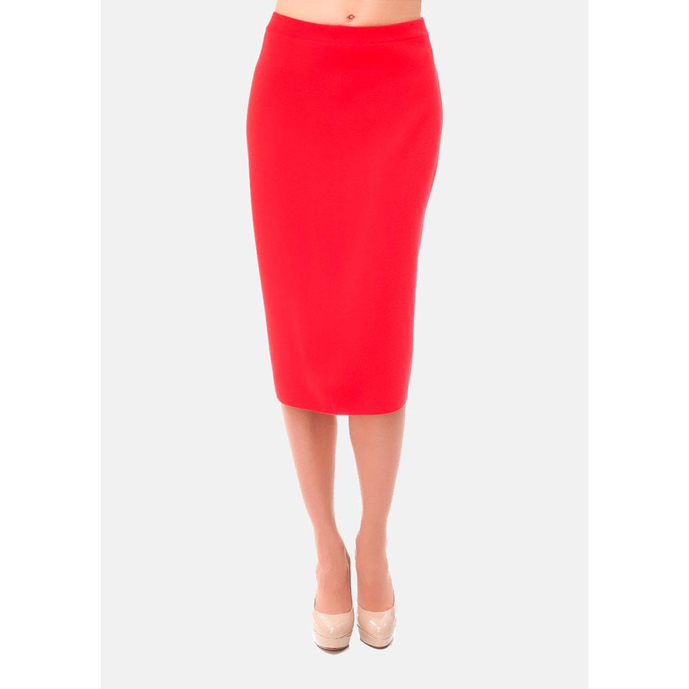 Красная юбка-карандаш RITO со шлицей