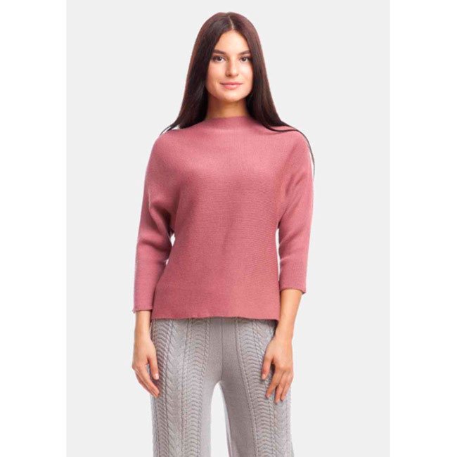 Джемпер розового цвета RITO с рукавом три четверти