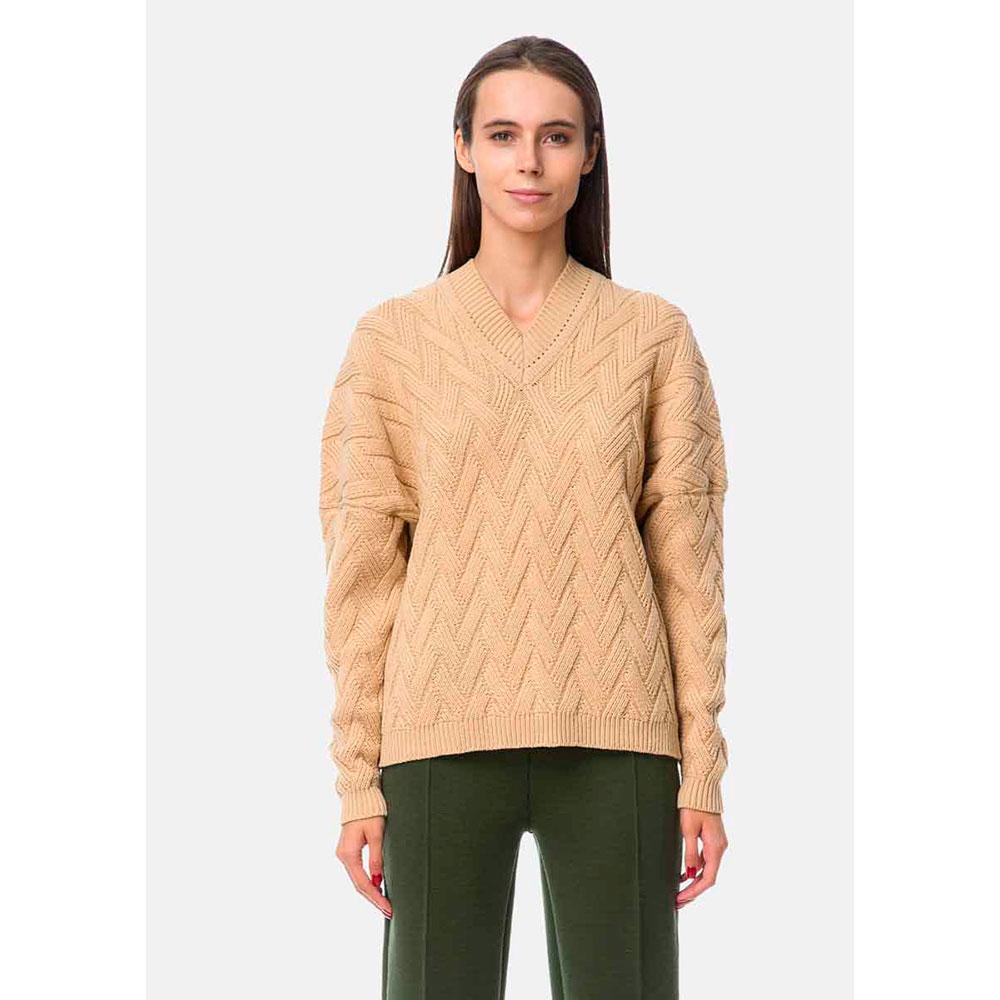Фактурный свитер RITO с горловиной мысом