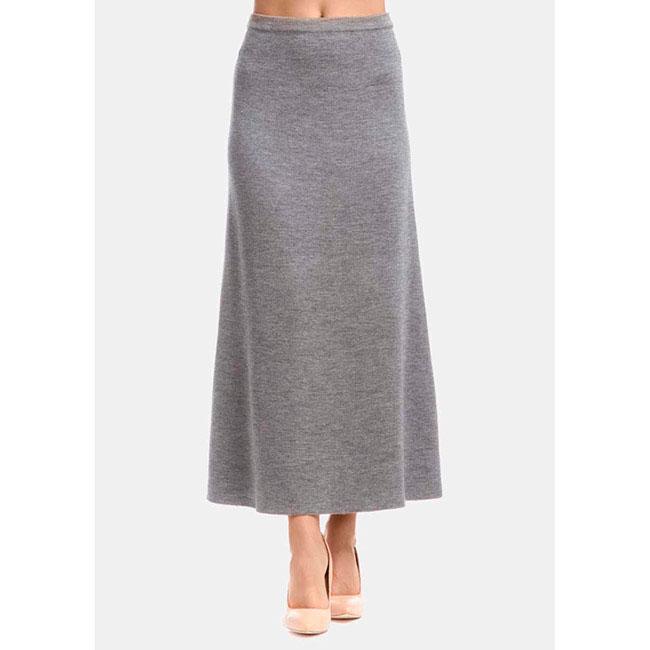 Длинная трикотажная юбка RITO серого цвета