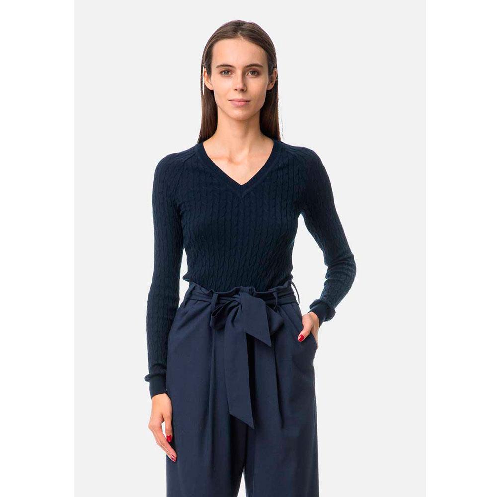Темно-синий свитер RITO с V-образной горловиной