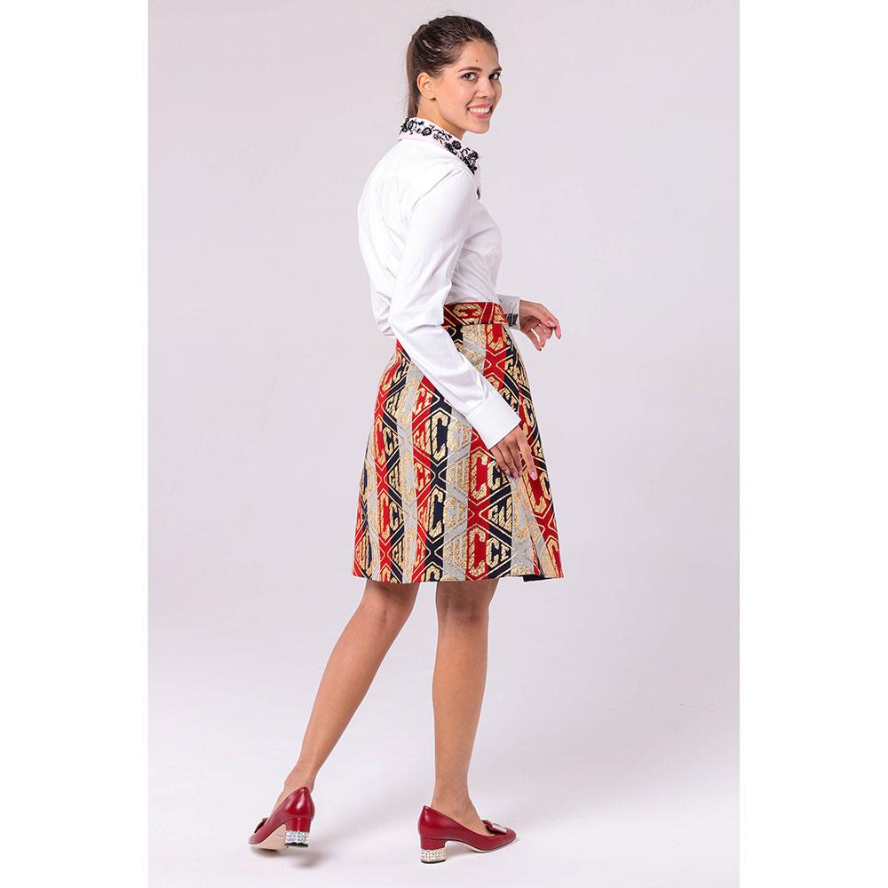 Жаккардовая юбка Gucci А-силуэта в полоску