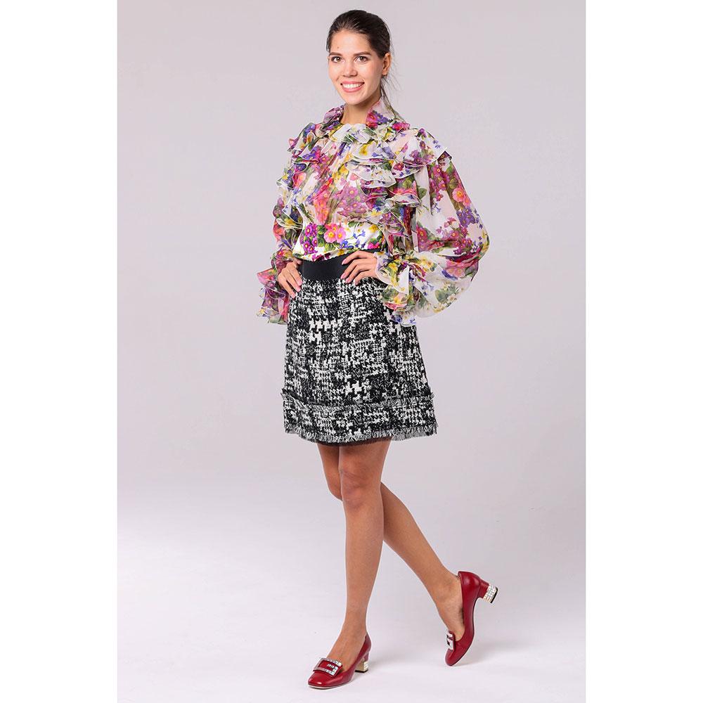 Черно-белая юбка Dolce&Gabbana на резинке