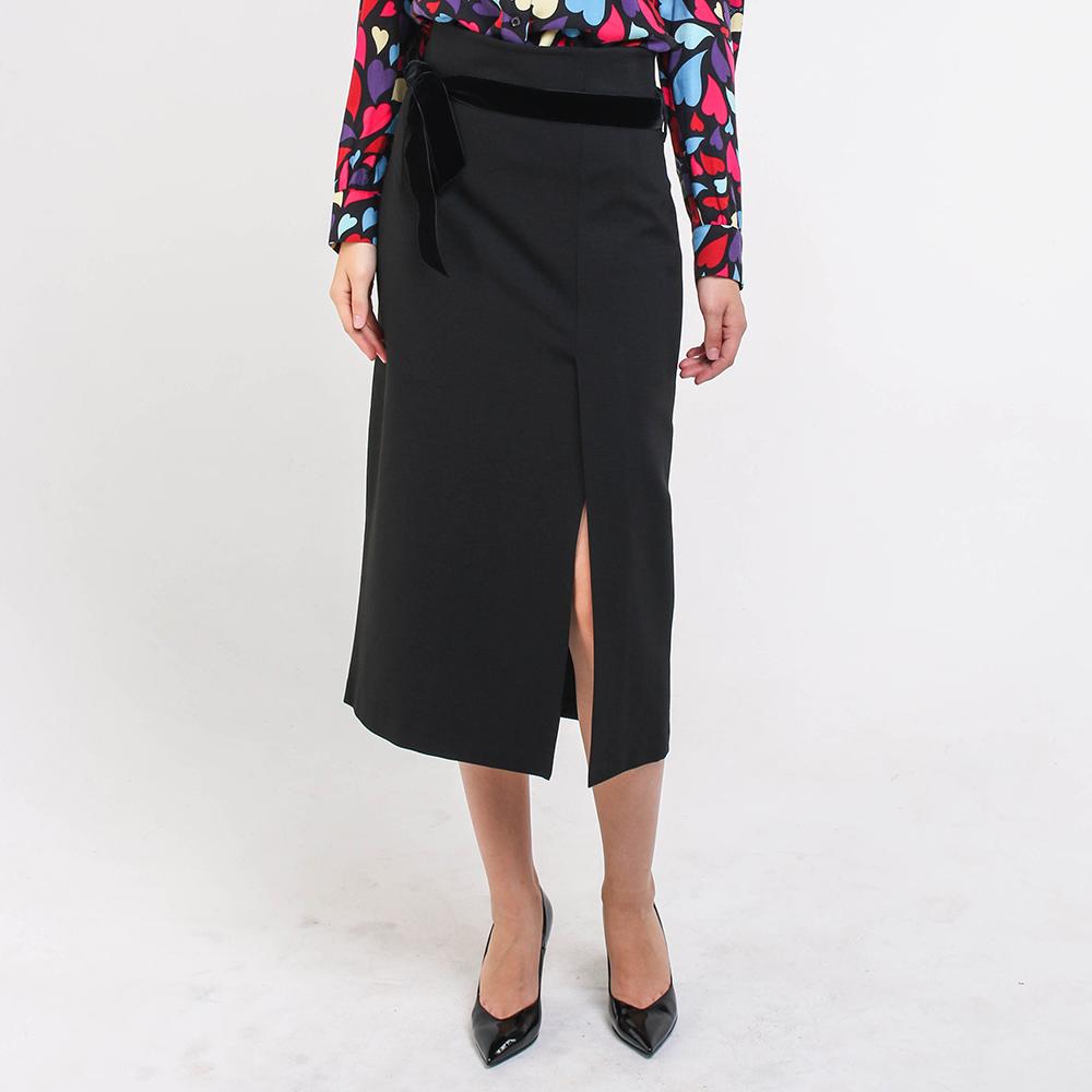 Черная юбка-миди Blugirl с разрезом