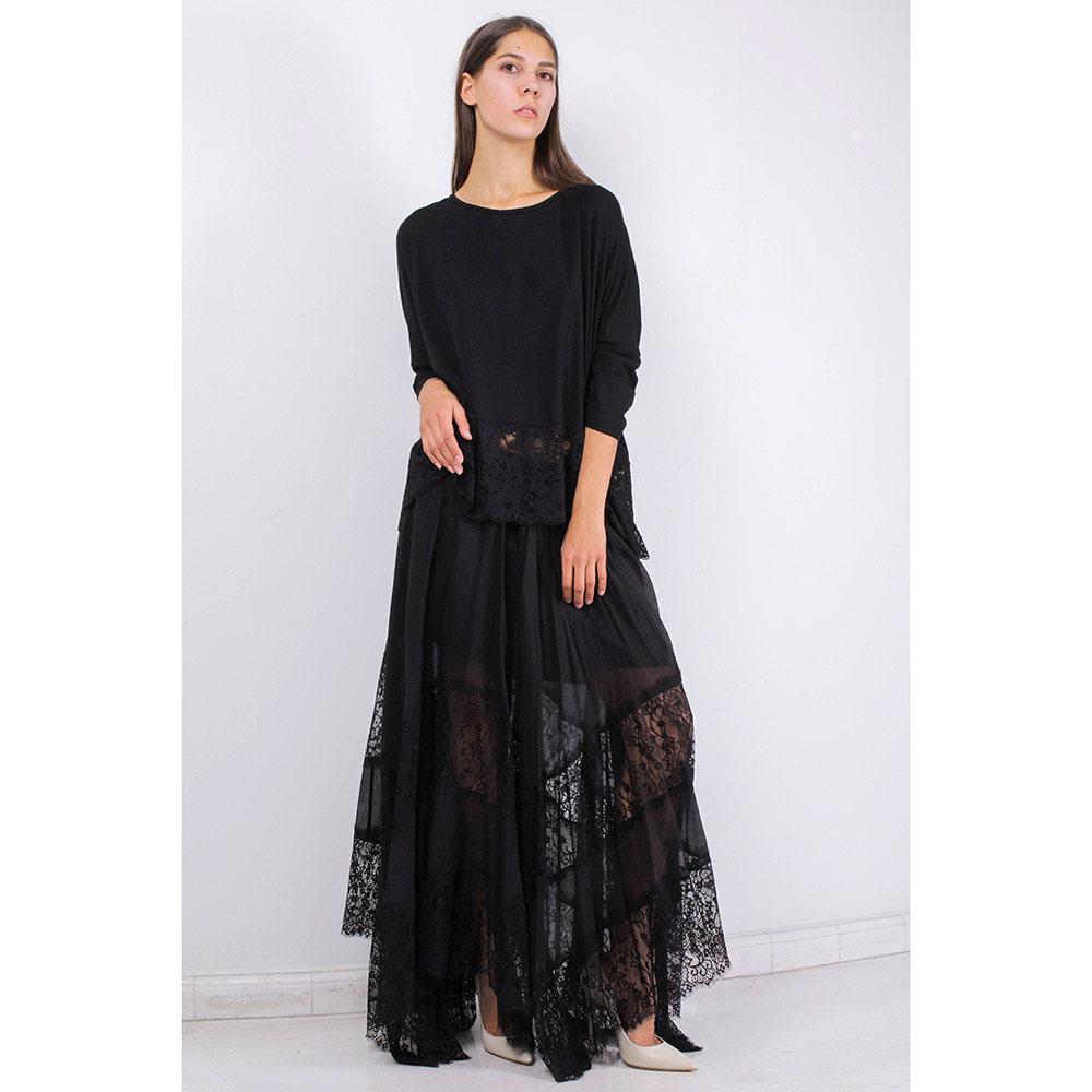 Длинная юбка-клеш FOREVER UNIQUE с кружевным низом