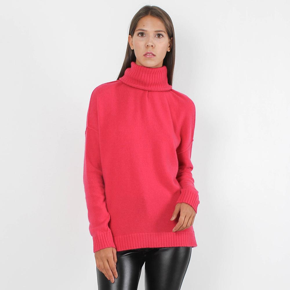 Кашемировый гольф Allude ярко-розового цвета