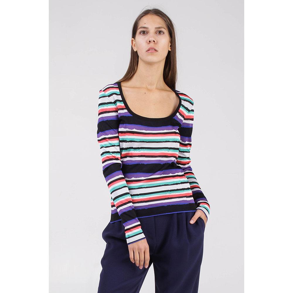 Пуловер Roberto Cavalli в разноцветную полоску