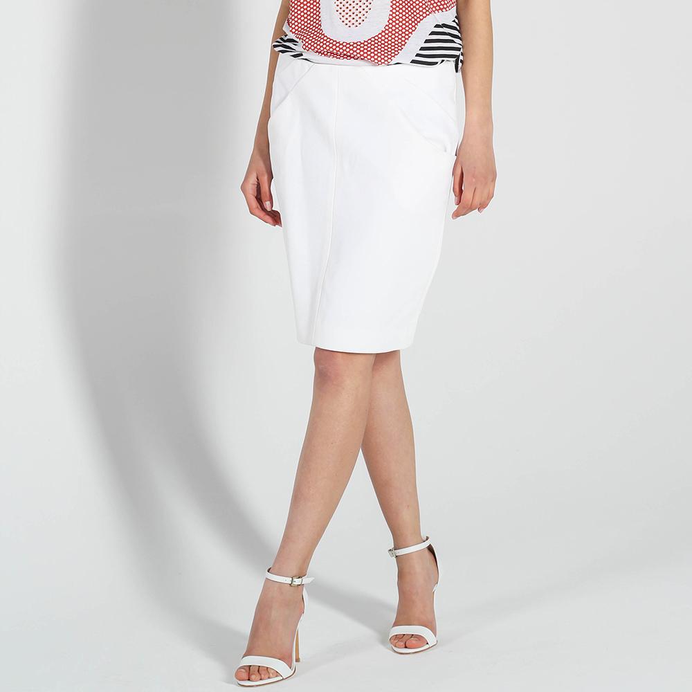 Юбка-карандаш DVF белого цвета с карманами