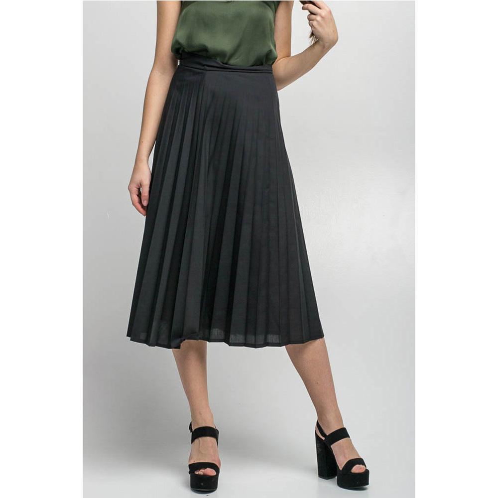 Плиссированная юбка Kaos черного цвета