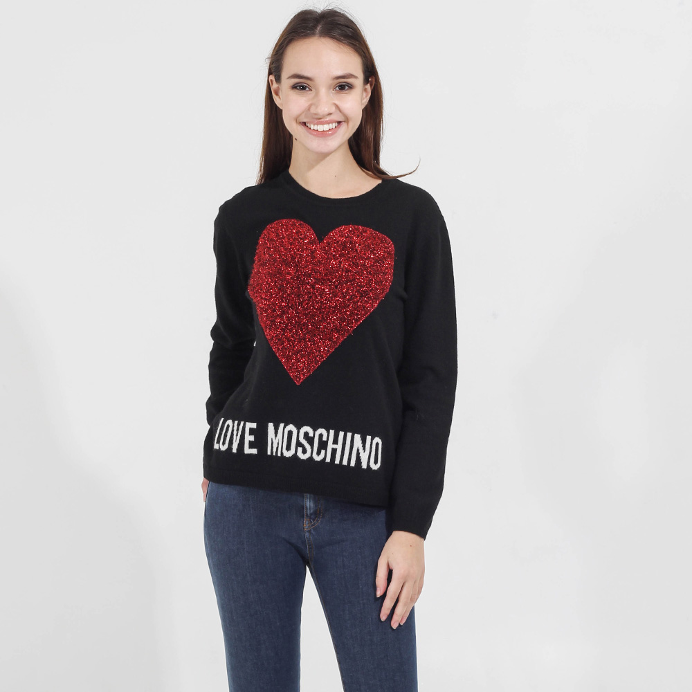 Джемпер Love Moschino с объемным сердцем