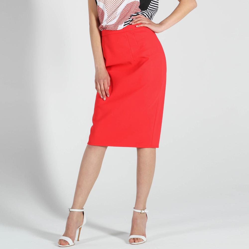 Юбка-карандаш Elisabetta Franchi красного цвета
