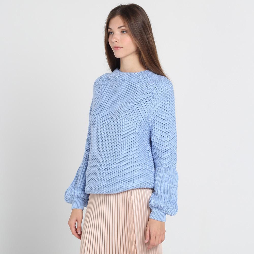 Голубой свитер Nit.ka с объемными рукавами