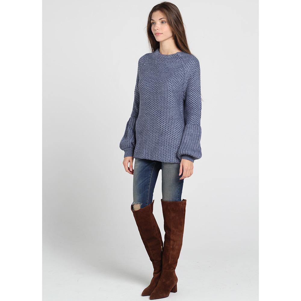Синий свитер Nit.ka с объемными рукавами