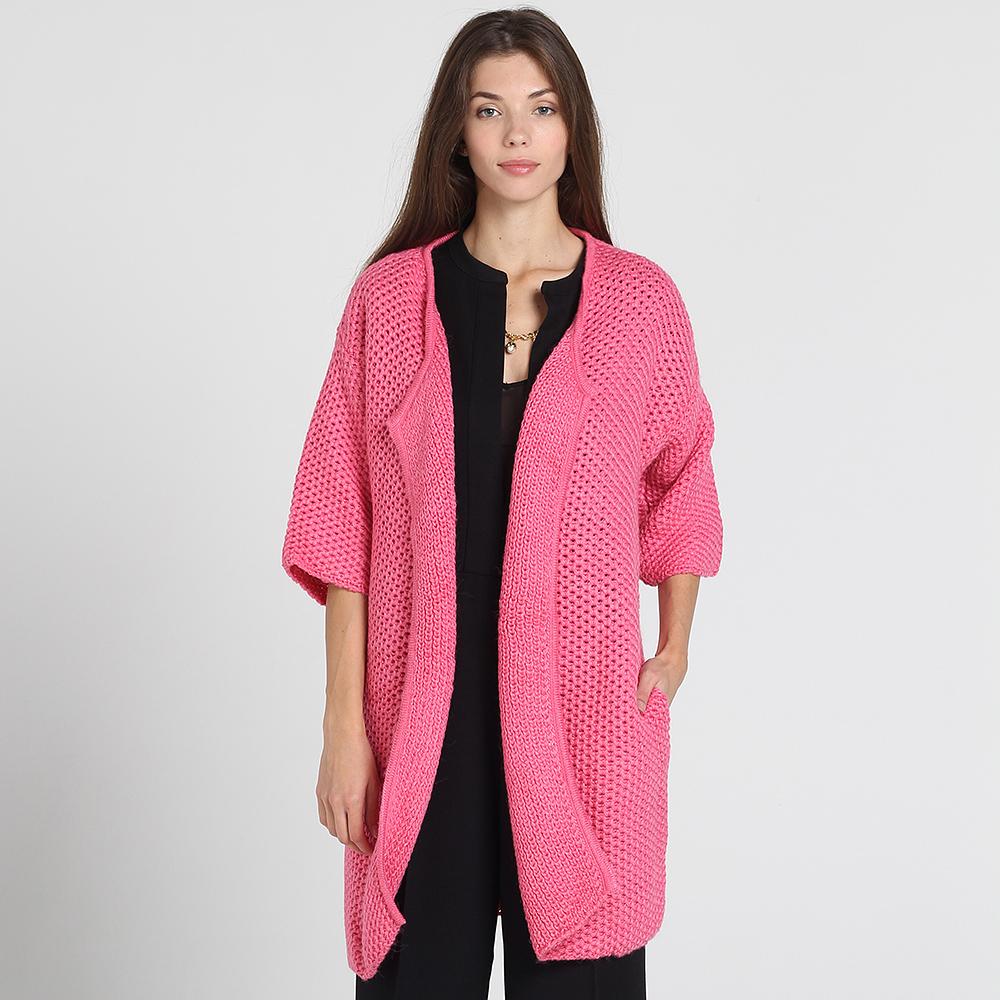 Кардиган Nit.ka с рукавом три четверти розового цвета