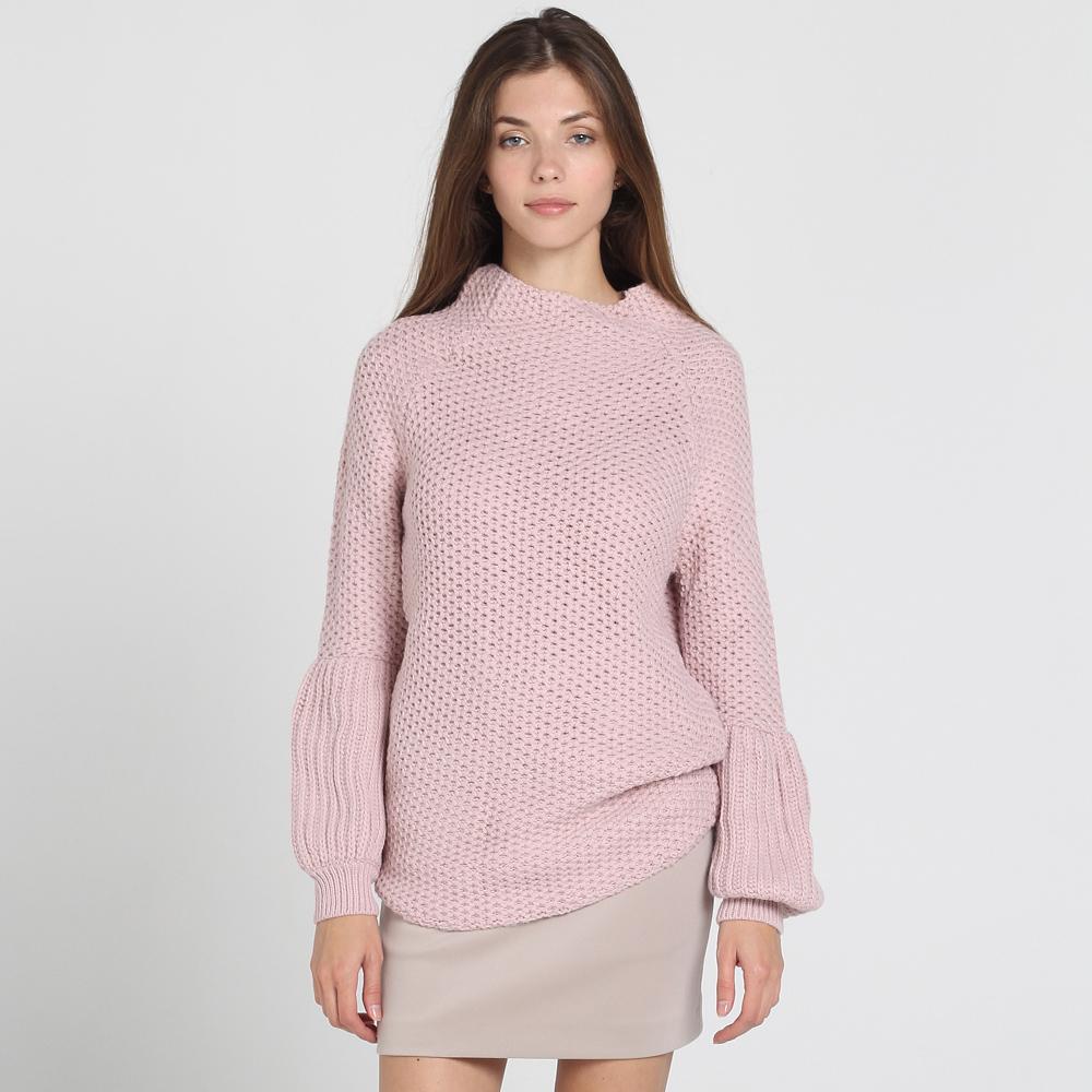 Розовый свитер Nit.ka с объемными рукавами