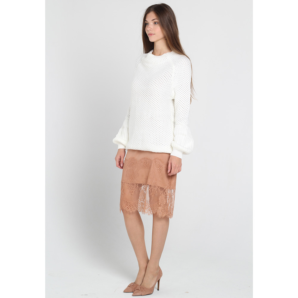 Белый свитер Nit.ka с объемными рукавами