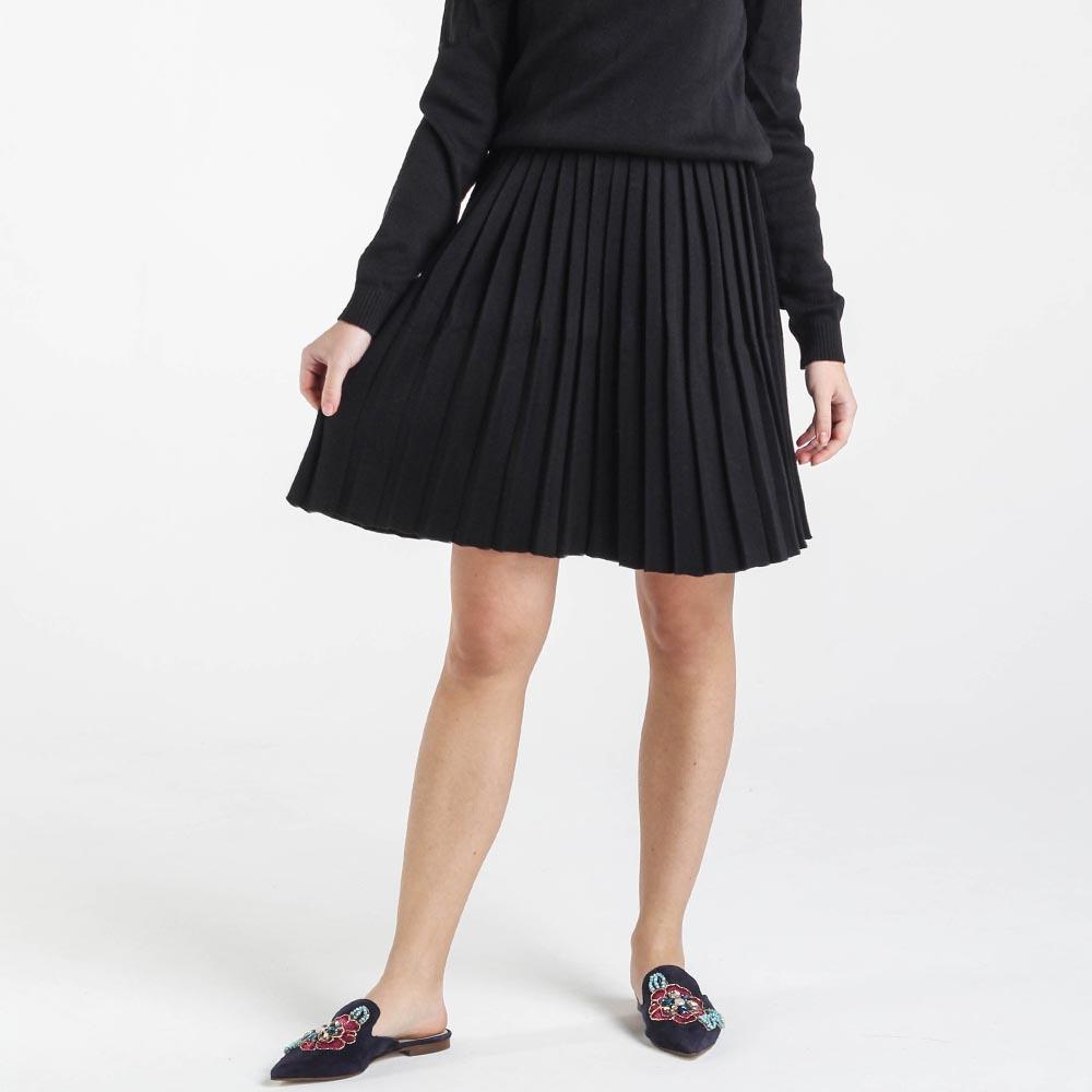 Плиссированная юбка Nit.ka черного цвета