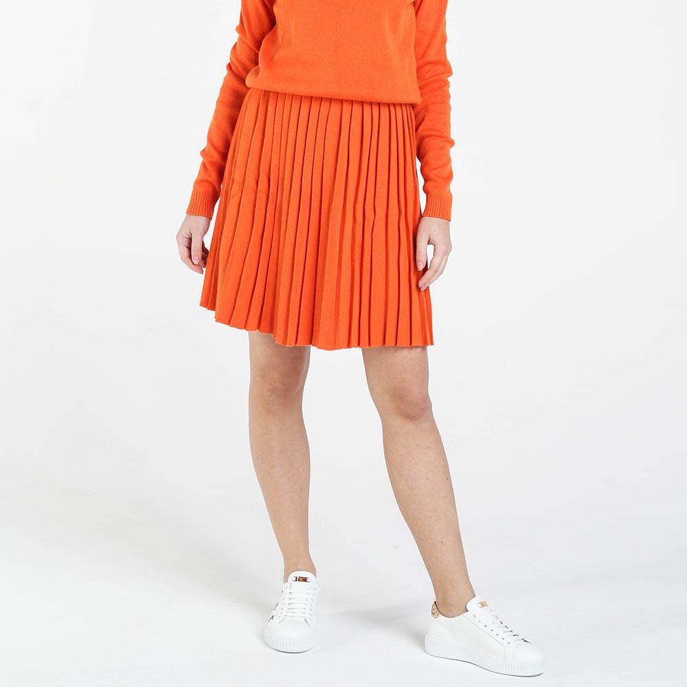 Плиссированная юбка Nit.ka оранжевого цвета