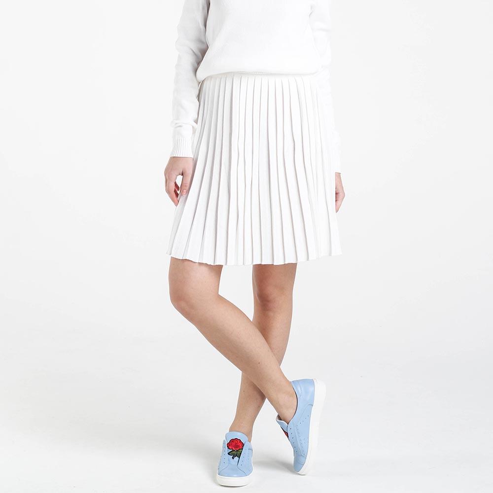 Плиссированная юбка Nit.ka белого цвета