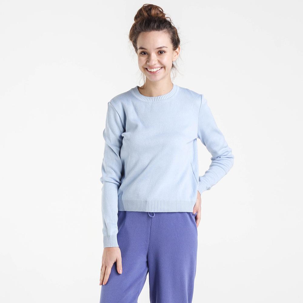 Однотонный свитер Nit.ka голубого цвета