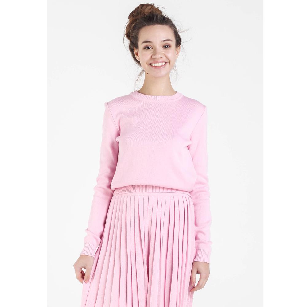 Однотонный свитер Nit.ka розового цвета