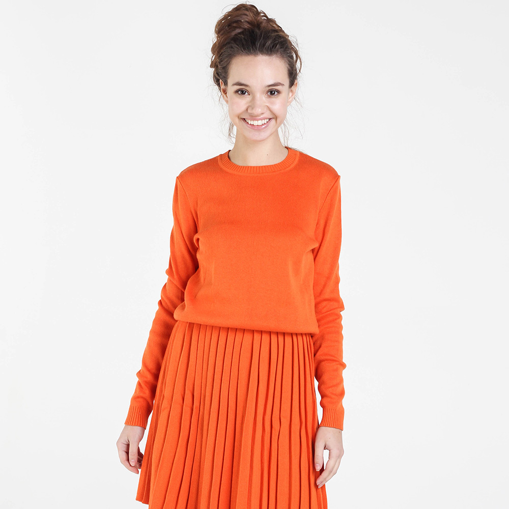 Однотонный свитер Nit.ka оранжевого цвета
