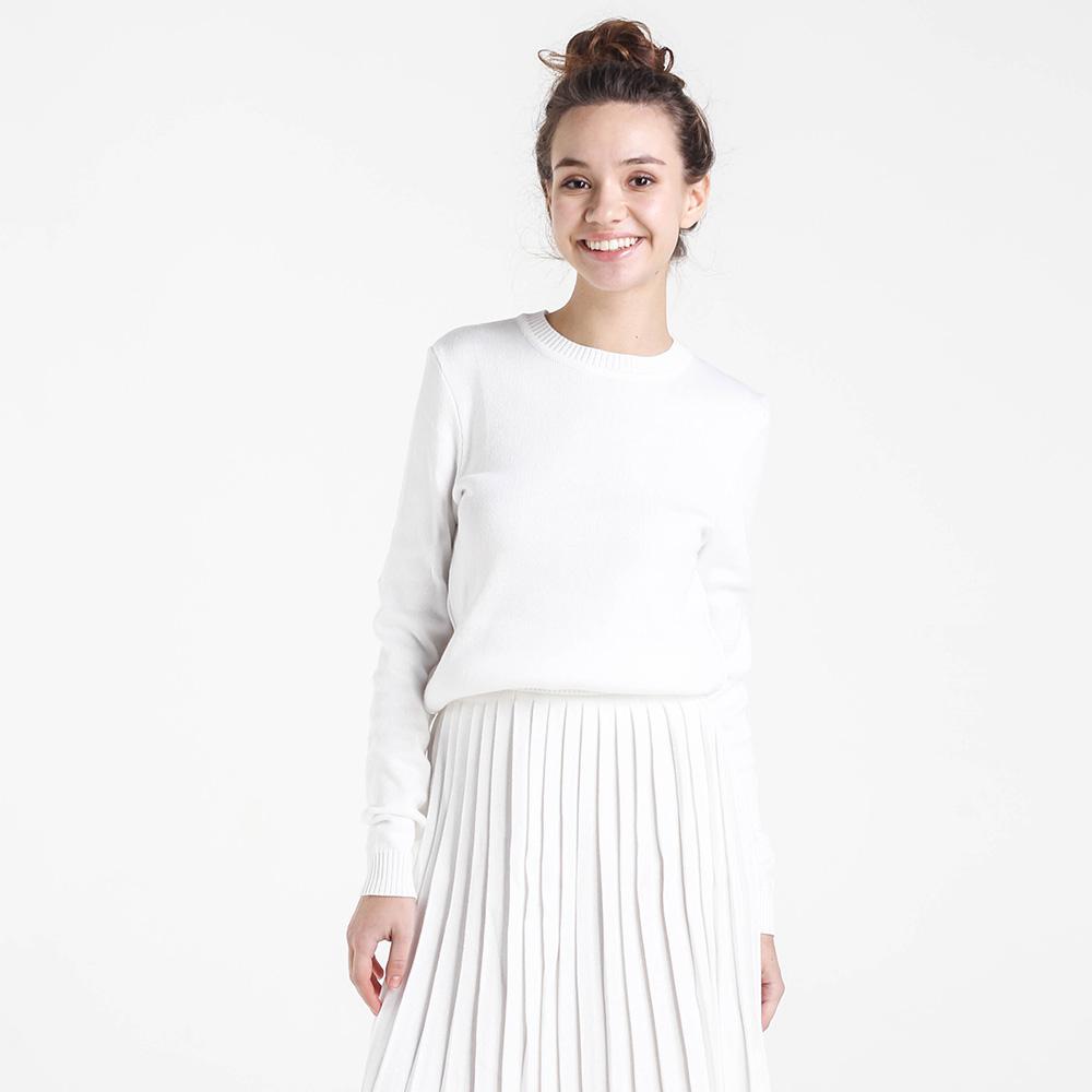 Однотонный свитер Nit.ka белого цвета