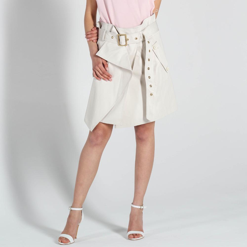 Ассиметричная юбка Salvatore Ferragamo с запахом и широким поясом