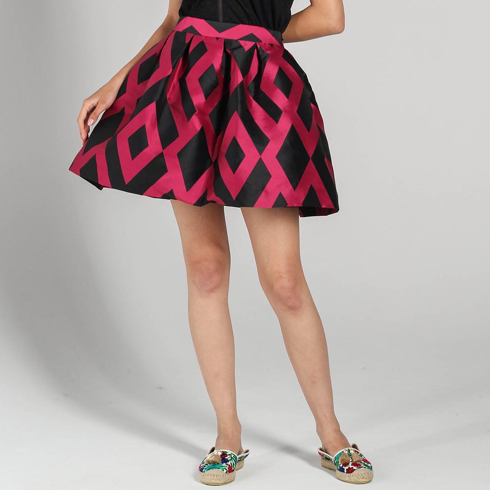 Короткая пышная юбка P.A.R.O.S.H. с розовыми ромбами