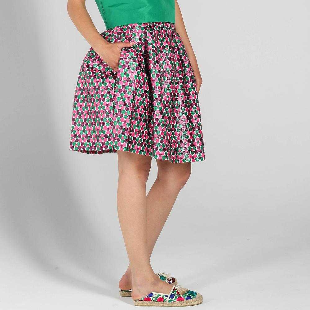 Разноцветная пышная юбка P.A.R.O.S.H. с карманами