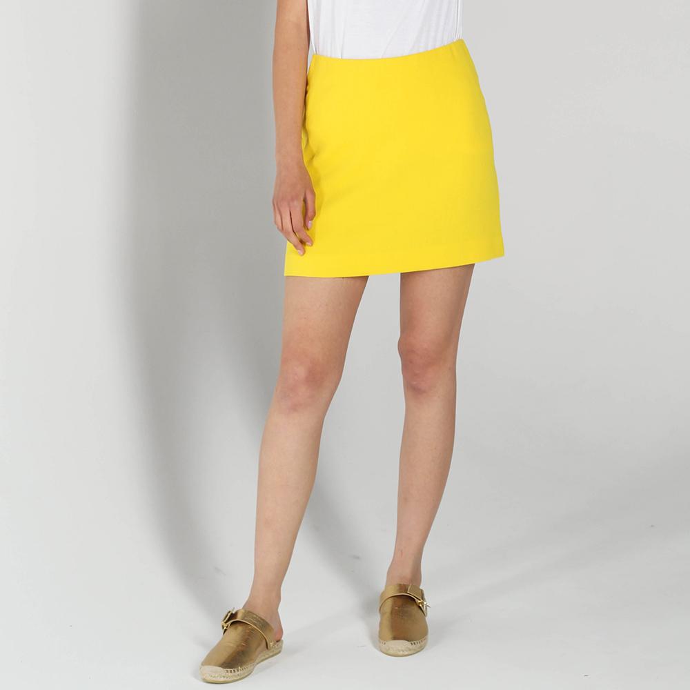 Мини-юбка P.A.R.O.S.H. желтого цвета