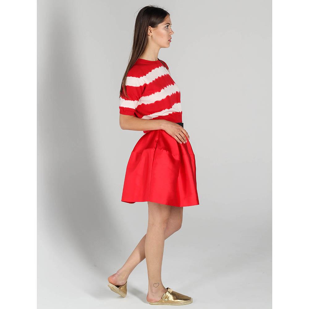 Юбка-тюльпан P.A.R.O.S.H. красная с черным поясом