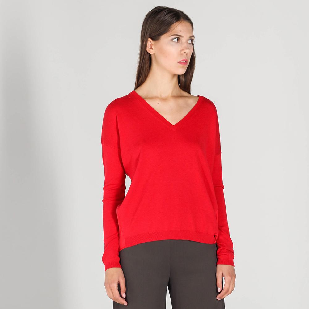 Красный джемпер P.A.R.O.S.H. из шелка