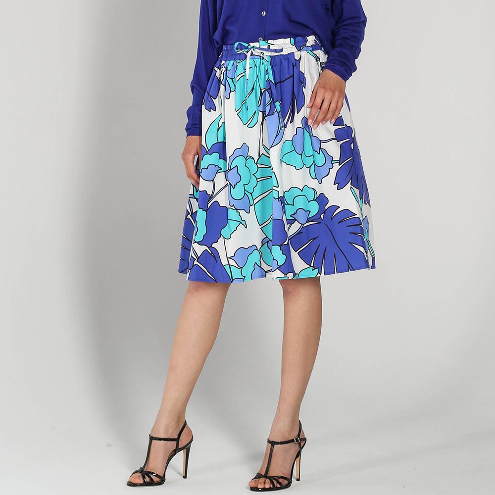 Юбка-клеш P.A.R.O.S.H. с голубым и синим принтом