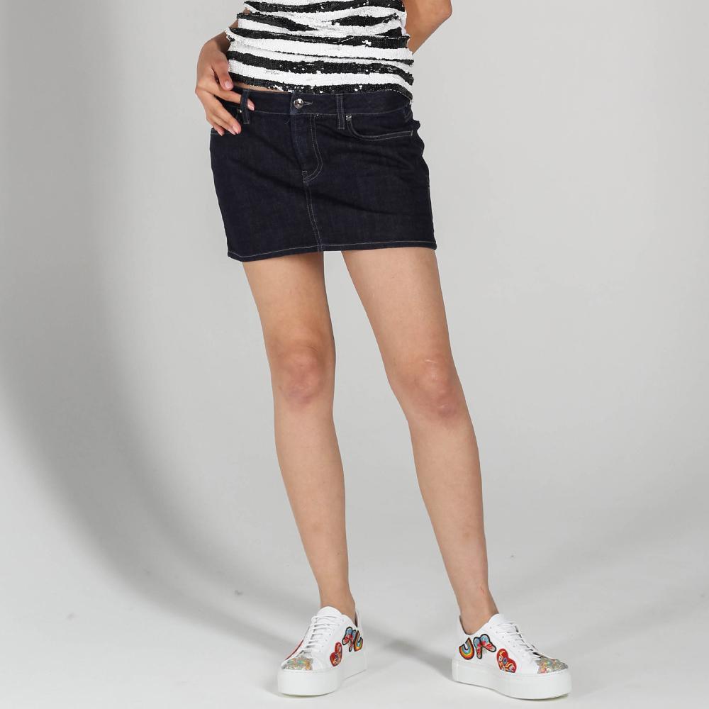 Джинсовая юбка P.A.R.O.S.H. с заниженной талией
